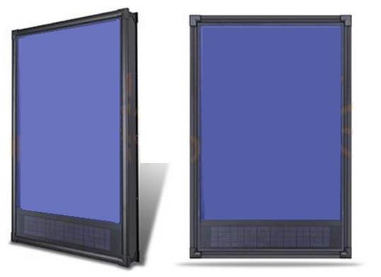 Рис.1 Солнечный воздушный коллектор